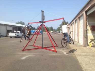 The Flanger, a bicycle-powered carnival ride.