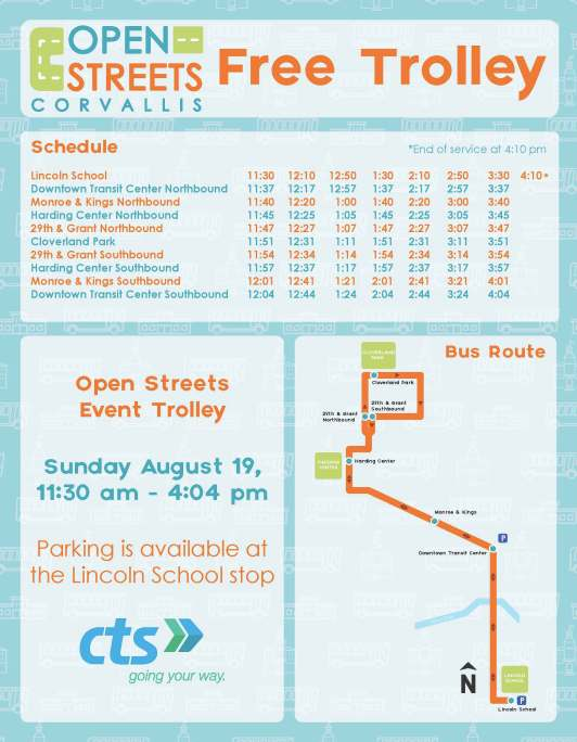 Open Streets Corvallis 2018_shuttle interior sign_8.5x11